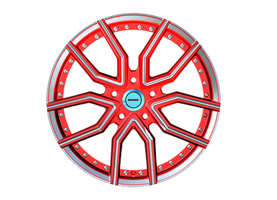 red modified alloy wheels