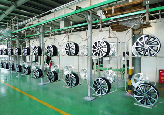 Aluminum wheel coating line process design flow