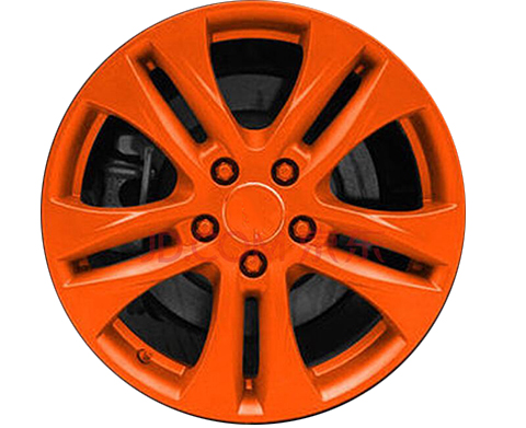 Spraying technology of aluminum alloy wheels