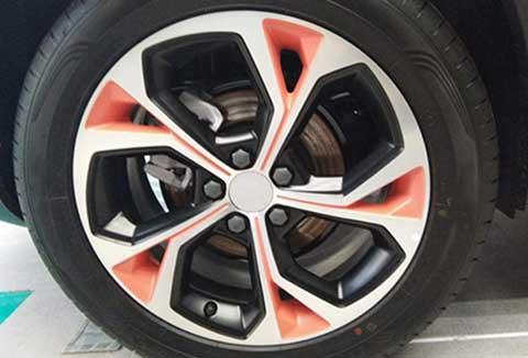 two-color aluminum alloy wheels